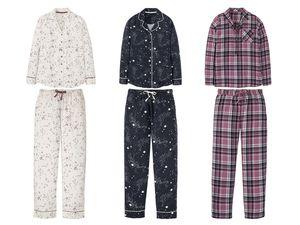 ESMARA® Lingerie Damen Flanell-Pyjama