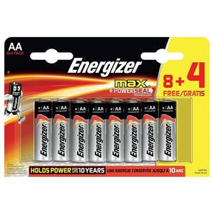 Max AA 8+4er, Batterien
