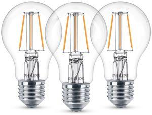 PHILIPS LED Filament, 3er Pack - LED classic 40W A60 E27 WW CL ND 3CT /4