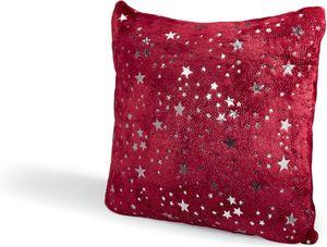 Dekokissen mit glitzer Sternen 50x50 cm - Rot