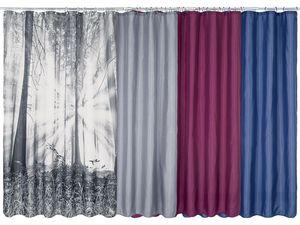MIOMARE® Duschvorhang mit Ringen, 180x200 cm