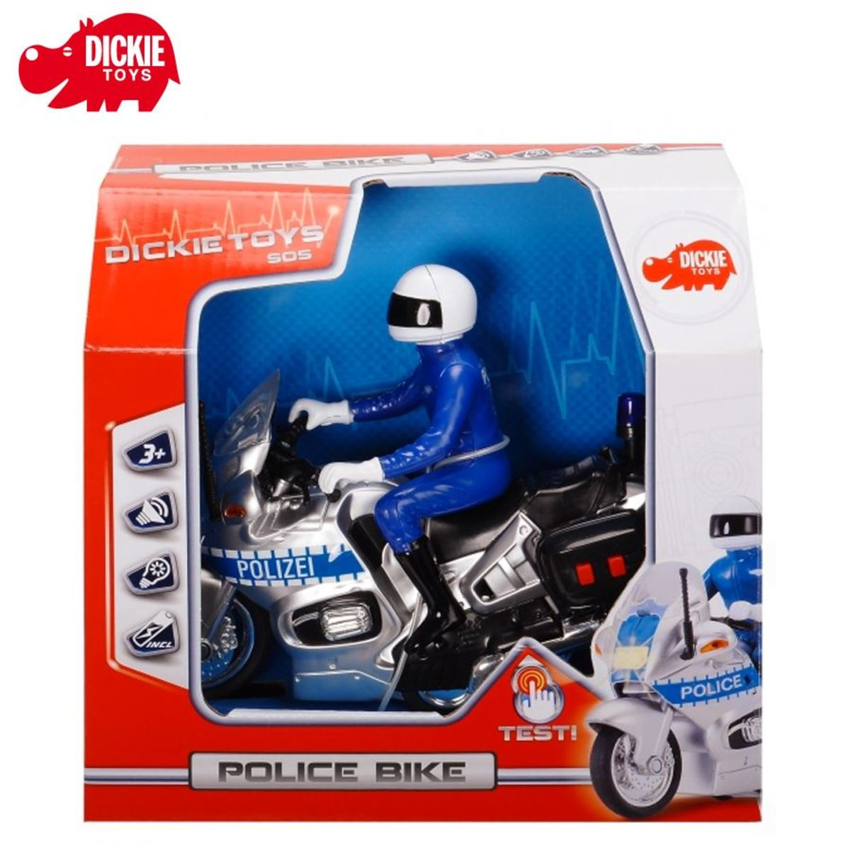 Bild 2 von Dickie Toys Polizei-Motorrad