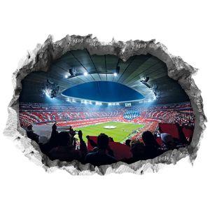 FCB Wandtattoo 3D Allianz Arena mehrfarbig