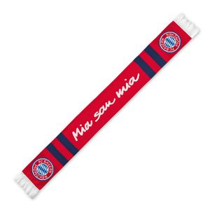FCB Fanschal Mia san Mia blau/rot mit Logo