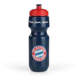 FCB Trinkflasche Mia san Mia 650ml blau/rot
