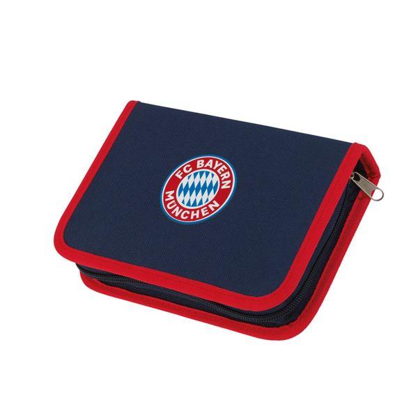 FCB Federtasche Mia san Mia blau/rot mit Logo inkl. Stifte