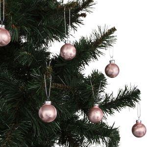 Weihnachtsbaumkugeln Eislack Rosé 4cm 6er-Set