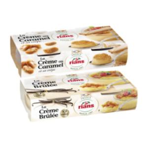 Creme Brulee, Creme au Caramel oder Panna Cotta Rote Früchte