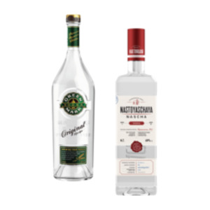 Nastoyaschaya Vodka, Green Mark Vodka oder Jose Cuervo Especial Reposado