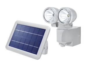 Doppel Solar LED Wandstrahler Duo Power-II mit Bewegungsmelder Esotec