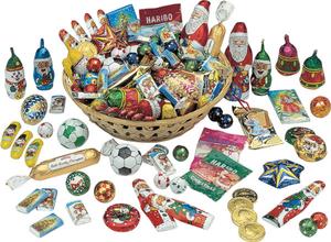 51 Weihnachts Süßigkeiten im Körbchen