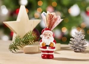 Geldbote Weihnachtsmann