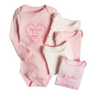 Baby Langarmbody 5er Pack für Mädchen