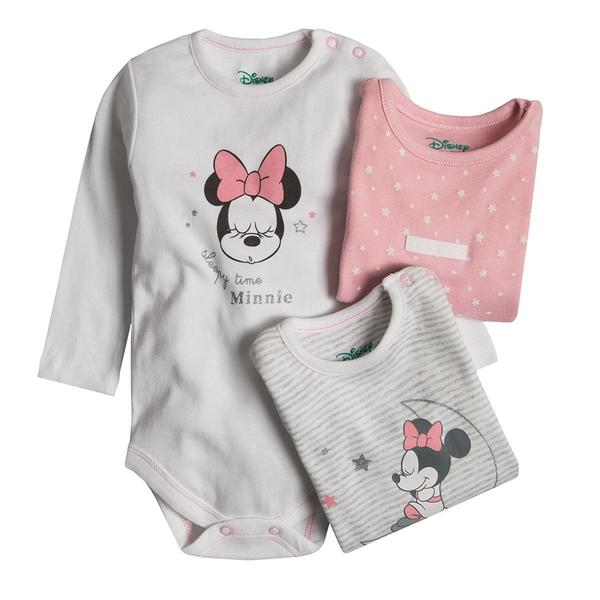 Baby Langarmbody 3er Pack Minnie Mouse