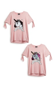 T-Shirt mit Einhornprint (Teeny Girls)