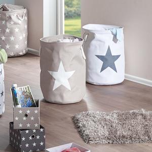 Wäschekorb Stars (taupe, Stern)