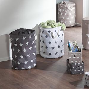 Wäschekorb Stars (weiß, Sternchen)
