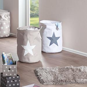 Wäschekorb Stars (weiß, Stern)