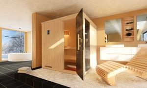 Weka Element-Sauna HALMSTAD 2 ,  mit Glastür und Fenster