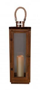 TrendLine LED Holzlaterne ,  braun, für den Innen-und Außenbereich