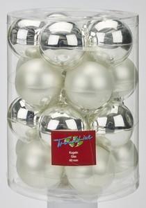 TrendLine Glaskugeln ,  uni glanz/matt, 60 mm, silber
