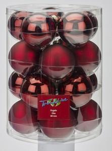 TrendLine Glaskugeln ,  uni glanz/matt, 60 mm, ochsenblut