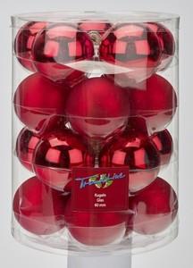 TrendLine Glaskugeln ,  uni glanz/matt, 60 mm, weihnachtsrot