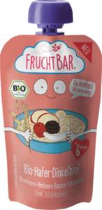 FruchtBar Quetschbeutel Bio-Hafer-Dinkelbrei Brombeere, Himbeere, Banane, Kokosmilch ab 6 Monaten