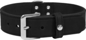 Das Lederband Hundehalsband Weinheim Schwarz Breite 25 mm / Länge 47 cm