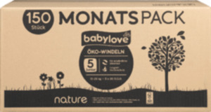 babylove Öko-Windeln nature junior, Monatspack, 5x30 St