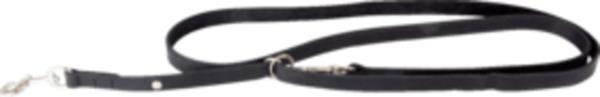 Das Lederband Hundeführleine Weinheim, Schwarz, stufenlos verstellbar, Breite 12 mm / Länge 210 cm