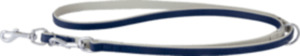 Das Lederband Hundeführleine Amsterdam, Navy / Grey, Breite 18 mm / Länge 200 cm