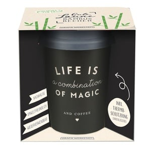 Bamboo-To-Go Becher ´´Life is a combination of magic´´ 6,13 € / 100g