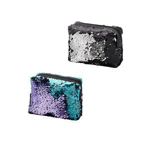 Kosmetiktäschchen mit trendigen Wendepailletten, ca. 13x5x11,5cm