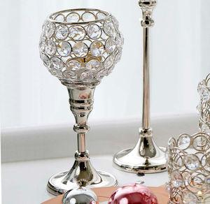 Kristall-Teelichthalter auf Fuß, ca. 18cm