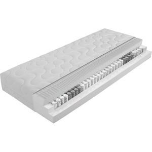 Carryhome TASCHENFEDERKERNMATRATZE 140/200 cm 25 cm, Weiß