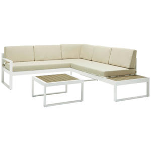 Ambia Garden LOUNGEGARNITUR Polywood® Aluminium, Grau