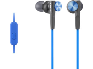 SONY MDR-XB50AP Extra Bass, In-ear Kopfhörer, Headsetfunktion, Blau