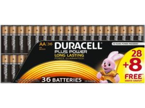 DURACELL Plus Power AA Mignon Batterie, 36 Stück