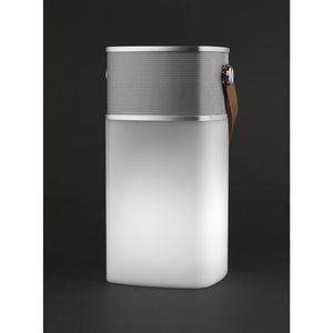 MEDION LIFE® E61180 Bluetooth Lautsprecher mit LED-Licht, Stufenlos regelbare Helligkeit, Freisprechfunktion, AUX-Eingang, IPX4 Schutz gegen Spritzwasser (B-Ware)