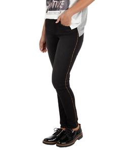 Damen Coloured Denim 5-Pocket-Jeans mit Goldnaht