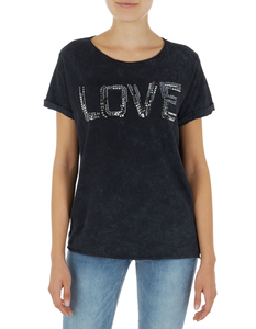 Damen T-Shirt im Washed Out Look