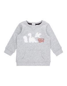 Newborn Sweatshirt mit Dino-Flockprints