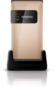 emporia FLIPbasic Seniorenhandy champagner