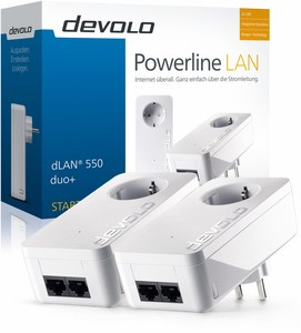 devolo dLAN 550 duo+ Starter Kit Netzwerk Powerline