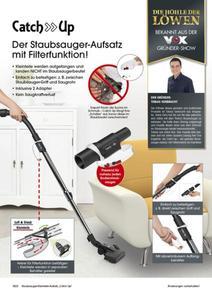 Catch Up Staubsauger-Aufsatz schwarz mit Filterfunktion