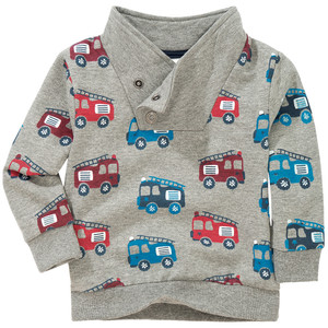 Baby Sweatshirt mit Feuerwehr-Print
