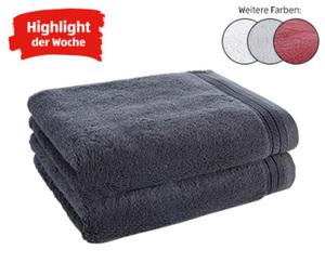 "tukan Luxus-Frottier Handtücher ""PIMA"", 2 Stück"