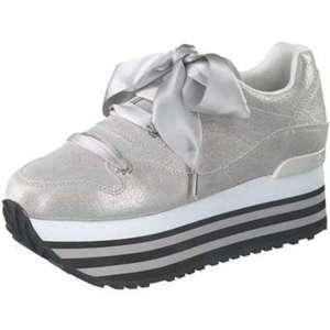 Apepazza Plateau Sneaker Damen grau von Siemes Schuhcenter