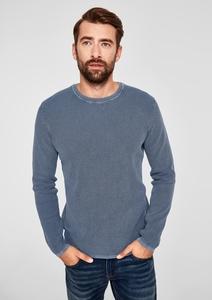 Strukturstrick-Pullover mit Waschung